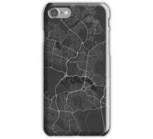 Canberra-Queanbeyan, Australia Map. (White on black) iPhone Case/Skin