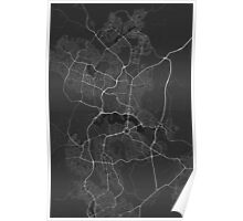 Canberra-Queanbeyan, Australia Map. (White on black) Poster