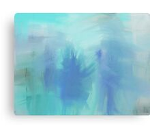 Ice Blue Figures Canvas Print
