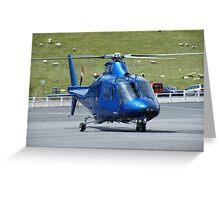 Agusta G-HDTV - Castle Air Charters Greeting Card
