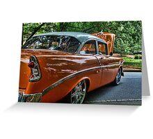 Classic Orange Car in Park Greeting Card