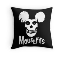 I Want Your Cheese! Mousefits Logo Throw Pillow