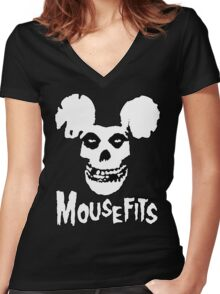 I Want Your Cheese! Mousefits Logo Women's Fitted V-Neck T-Shirt