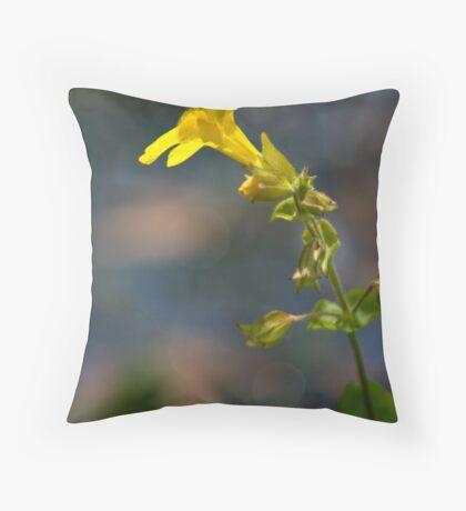 Wild Yellow Throw Pillow