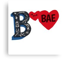 B is for BAE Canvas Print
