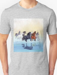 Galloping in the river T-Shirt