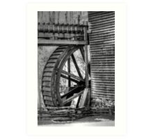 Hagood Mill Wheel Art Print