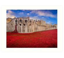 Tower Of London Poppies 2014 Art Print