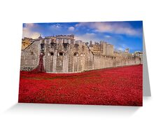 Tower Of London Poppies 2014 Greeting Card