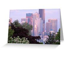 Seattle Glowing • Seattle, Washington Greeting Card