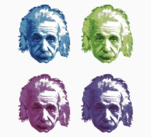 Albert Einstein - Theoretical Physicist - Rainbow Baby Tee