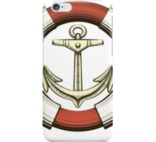 Anchor and Lifebuoy in retro style.   iPhone Case/Skin