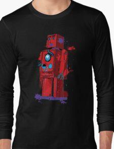 Red Robot Lilliput Splattery Shirt or iPhone Case Long Sleeve T-Shirt