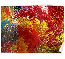 Fireworks Abstract Poster
