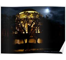 Palace of Fine Arts and Full Moon Poster