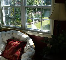 """Papasan Chair By Sunroom Window"" by dfrahm"