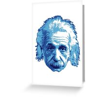 Albert Einstein - Theoretical Physicist - Blue Greeting Card