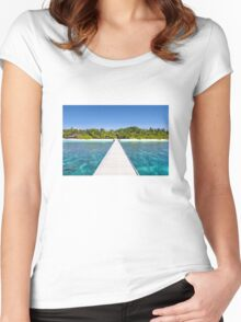Velidhu Atoll, The Maldives Women's Fitted Scoop T-Shirt