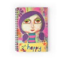 Think Happy Thoughts Spiral Notebook