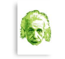 Albert Einstein - Theoretical Physicist - Green Canvas Print