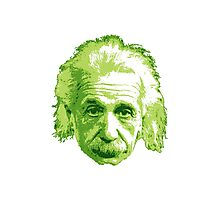 Albert Einstein - Theoretical Physicist - Green Photographic Print