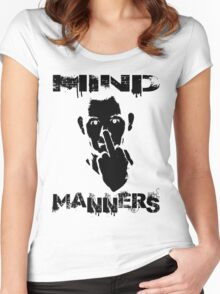 MIND MANNERS Women's Fitted Scoop T-Shirt