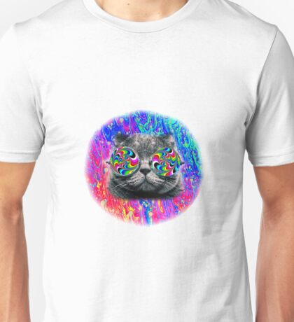 Psychedelic Trippy Cat Unisex T-Shirt