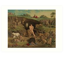 Twelve Temptations Daniel in the Lions' Den (1877) Art Print