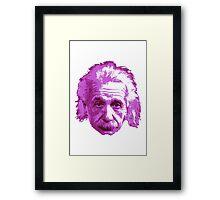 Albert Einstein - Theoretical Physicist - Pink Framed Print