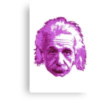 Albert Einstein - Theoretical Physicist - Pink Canvas Print