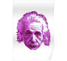 Albert Einstein - Theoretical Physicist - Pink Poster