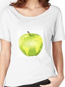 apple with geographic contours Women's Relaxed Fit T-Shirt