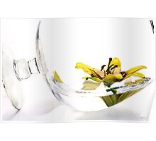 A Glass of Daylily Poster