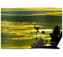 Weathervane Sunset Poster