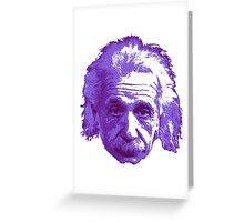 Albert Einstein - Theoretical Physicist - Purple Greeting Card