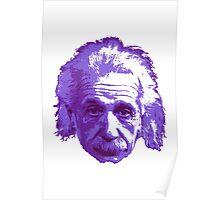 Albert Einstein - Theoretical Physicist - Purple Poster