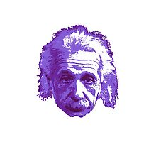 Albert Einstein - Theoretical Physicist - Purple Photographic Print