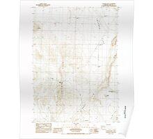 USGS Topo Map Oregon Coleman Hills 279395 1984 24000 Poster