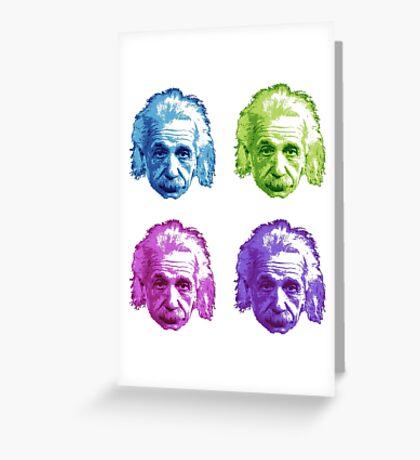 Albert Einstein - Theoretical Physicist - Rainbow Greeting Card
