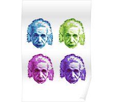 Albert Einstein - Theoretical Physicist - Rainbow Poster