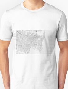 Sydney, Australia Map. (Black on white) Unisex T-Shirt