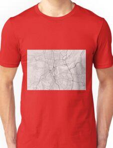 Brisbane, Australia Map. (Black on white) Unisex T-Shirt