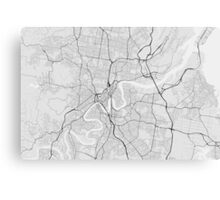 Brisbane, Australia Map. (Black on white) Canvas Print