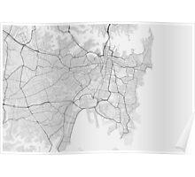 Sydney, Australia Map. (Black on white) Poster