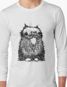 Black Creepycat Long Sleeve T-Shirt