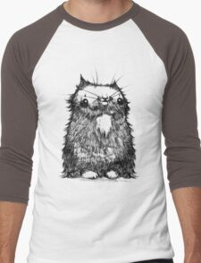 Black Creepycat Men's Baseball ¾ T-Shirt