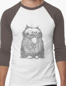 Grey Creepycat Men's Baseball ¾ T-Shirt