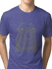 Grey Creepycat Tri-blend T-Shirt