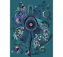 Stylized Music Poster 2 Photographic Print