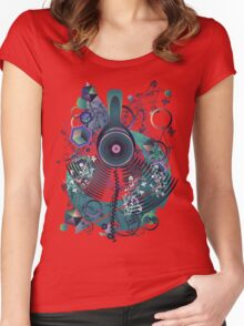 Stylized Music Poster 2 Women's Fitted Scoop T-Shirt